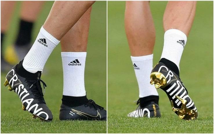 dove acquistare economico per lo sconto bello economico Cristiano Ronaldo, nuove scarpe brandizzate CR7. FOTO | Sky Sport