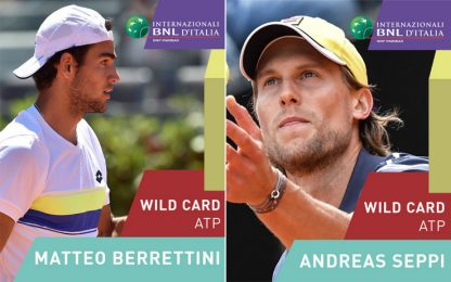 Roma, wild card per Berrettini e Seppi