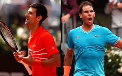 Super finale a Roma: alle 16 Djokovic-Nadal!