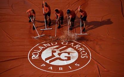 Pioggia al Roland Garros, tutti i match cancellati