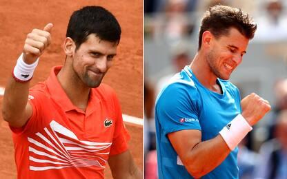 Roland Garros: Djokovic e Thiem in semifinale