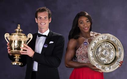 Murray-Serena, doppio misto da sogno a Wimbledon