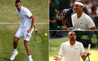 Nadal-Kyrgios, che spettacolo a Wimbledon! VIDEO