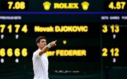 La finale dei record: i numeri di Djokovic-Federer
