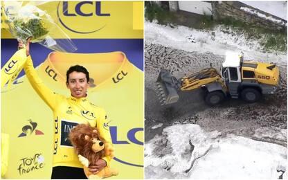 Tour, stop per maltempo: Bernal nuovo leader