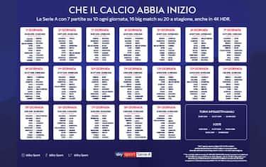 Calendario Di Serie A Completo Tutte Le Giornate Sky Sport