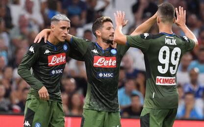 Il Napoli vince anche a Marsiglia: decide Mertens
