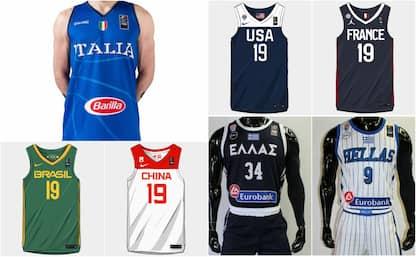 Tutte le maglie dei Mondiali di basket