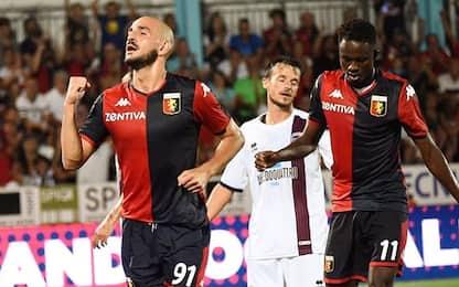 Genoa, poker in Coppa: gol di Schone su punizione