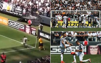 Trivela da corner: gol olimpico in Brasile! VIDEO