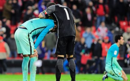 Coppa del Re, impresa Bilbao: in 9 stende il Barça