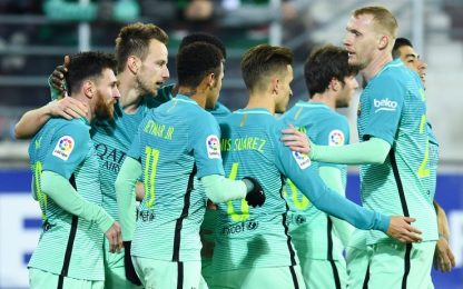 Il Barça cala il poker. Real e Siviglia nel mirino
