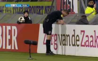 Coppa d'Olanda, la Var revoca un rigore assegnato