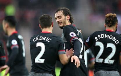 Gabbiadini incanta i Saints. Arsenal e Man U ok
