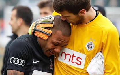 Serbia, cori razzisti: calciatore esce in lacrime