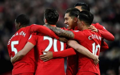 Il Liverpool rialza la testa: 3-1 all'Arsenal