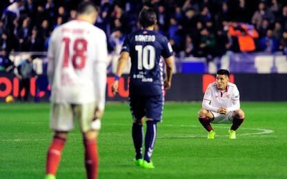 Frenata del Siviglia, fermato sull'1-1 dall'Alaves