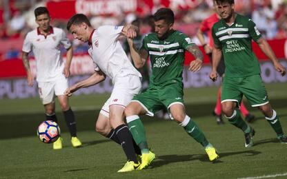 Liga: il Siviglia frena ancora, l'Atletico no