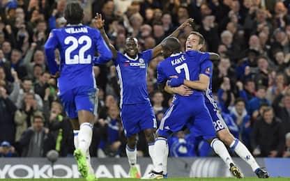 Fa Cup, Kantè stende lo United. Chelsea in semi
