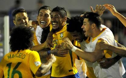 Uruguay illuso, Paulinho lo travolge: 4-1 Brasile