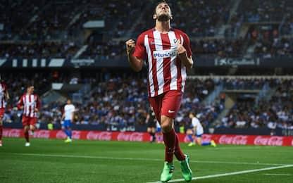 Atletico, Koke e Filipe Luis: 2-0 a Malaga