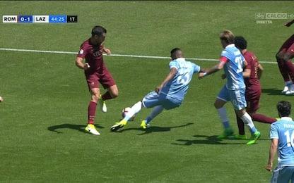 Roma-Lazio, gli episodi del derby alla moviola