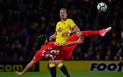 Magia di Emre Can, il Liverpool stende il Watford