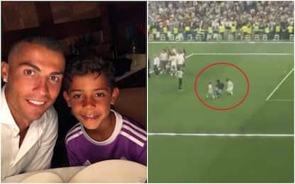 Sulle orme di papà, Cristiano Jr: gol fantastico
