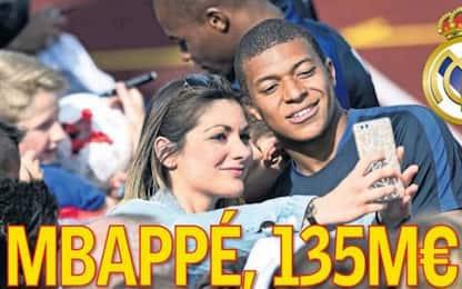 Real, pronti 135 milioni per Mbappé