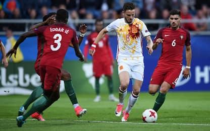 La Spagna va in semifinale. Serbia-Macedonia 2-2