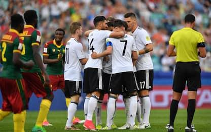 Confederations Cup, Cile e Germania in semifinale