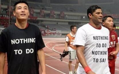Cina, maglia in difesa di Oscar: squalificato Hulk