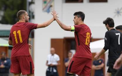 Roma, 8-0 nella prima partita contro il Pinzolo