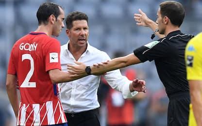 """Simeone: """"Reina top, giusto il rosso a Godin"""""""