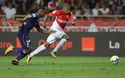 Monaco, esordio ok: 3-2 al Tolosa. C'è Mbappé
