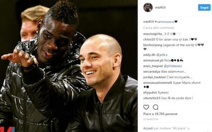 """Nizza, arriva Sneijder. Balotelli posta: """"Vamos!"""""""