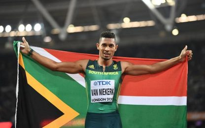 Atletica: nei 400 metri trionfa Van Niekerk