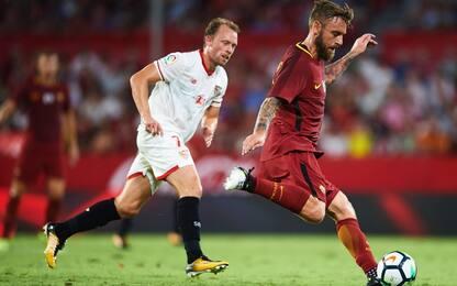 Roma, Dzeko non basta: vince il Siviglia 2-1