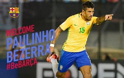 Barcellona, ufficiale l'acquisto di Paulinho