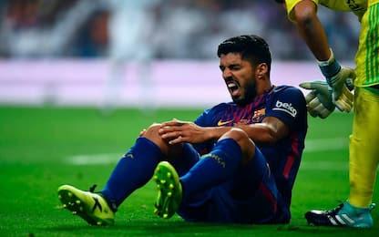 Barça, infortunio per Suarez: out 4-5 settimane