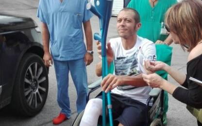 Rossi lascia ospedale, l'obiettivo è Motegi