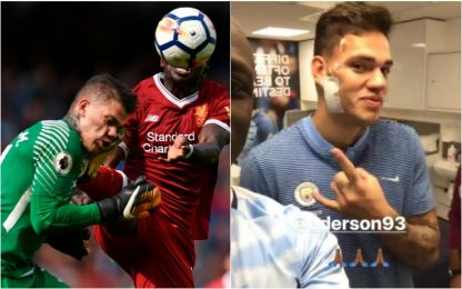 City-Liverpool, Mané: il brutto fallo su Ederson