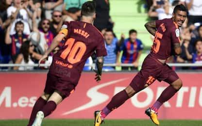 Il Barcellona soffre ma sbanca Getafe