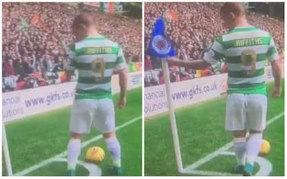 Griffiths, che modi! Profana lo stemma dei Rangers