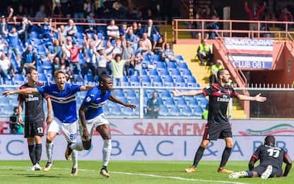Samp-Milan 2-0, Zapata e Alvarez. Gol e highlights