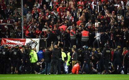 Crolla tribuna ad Amiens: feriti tifosi del Lille