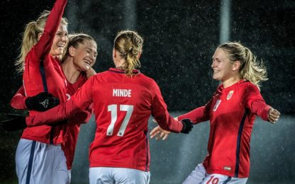 Norvegia, Nazionale: donne pagate come gli uomini