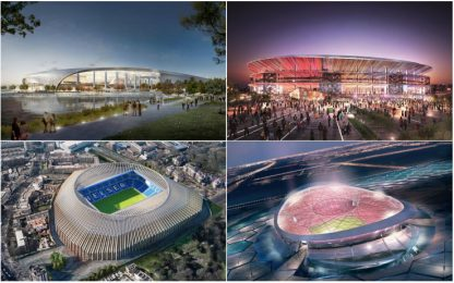 Nuovi stadi, i 10 progetti più spettacolari