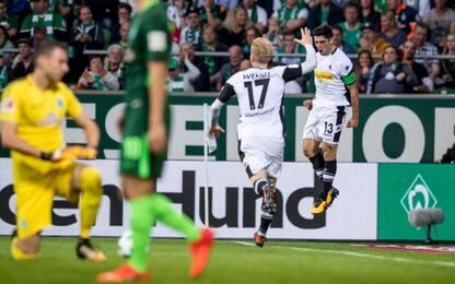 Vince il Gladbach, pari tra Leverkusen e Wolfsburg