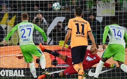 Bundesliga: Hoffenheim bloccato dal Wolfsburg 1-1